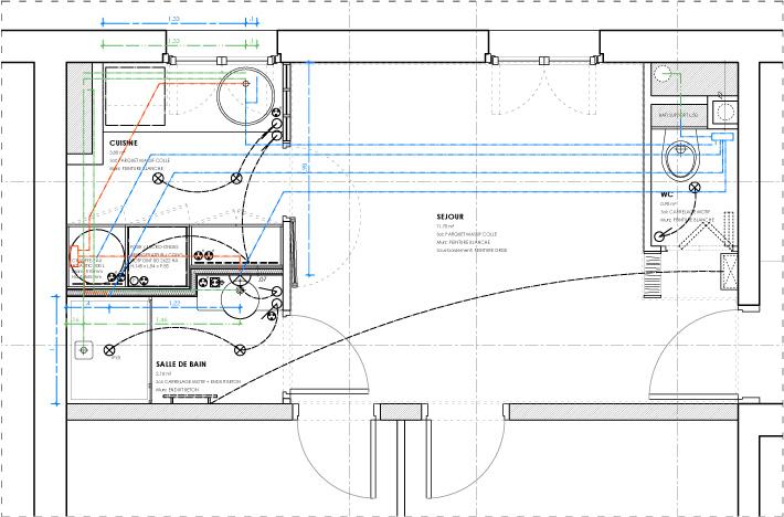 profondeur plan de travail cuisine sur ce plan du0027une cuisine ouverte en l du0027une surface. Black Bedroom Furniture Sets. Home Design Ideas