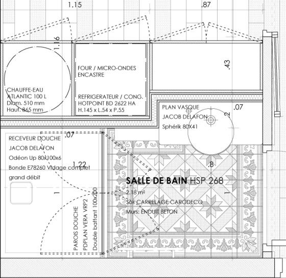 Plan salle de bain Ducouedic